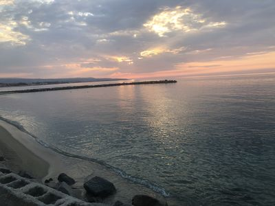 Photo for Directly on the sea, from the window you can admire a breathtaking view ..