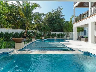 Photo for Luxury Property! Beautiful Pool Just Steps to Beach!