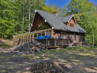 Photo for Spacious ski lodge w/ cathedral ceilings & incredible game room w/mountain views