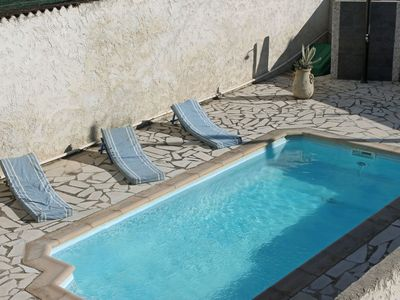 Photo for Beautiful private villa with private pool, WIFI, A/C, TV, washing machine and parking