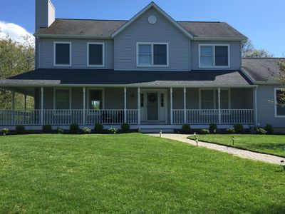Photo for New 4 bdrm, 3 bthrm Greenport Getaway by Private Beach