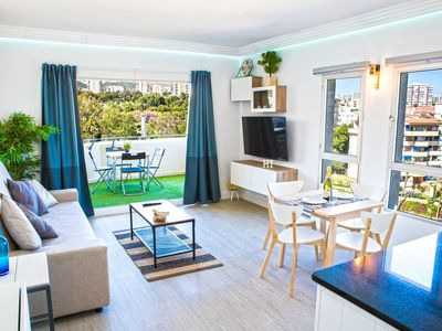 Photo for Newly renovated, 1 bedroom apartment with terrace in Benalbeach