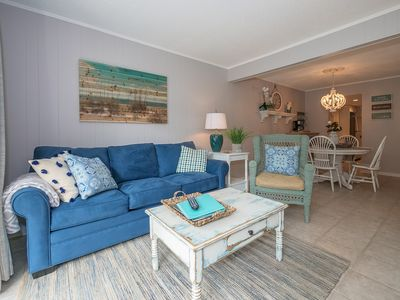 Photo for Totally Renovated -Ocean Oriented, close to Coligny Plaza, walk to beach