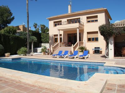 Photo for Spacious Luxury 3 Bedroom Villa In Moraira with Large Private Pool and Sea Views
