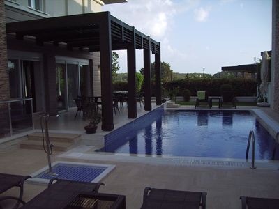 Photo for Luxurious villa with pool and sea views