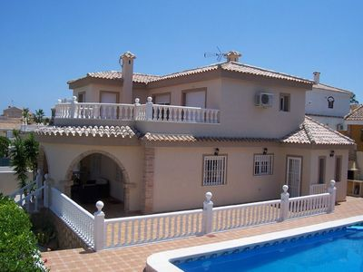 Photo for Luxury villa with sea views private pool and bar in Gran Alacant.