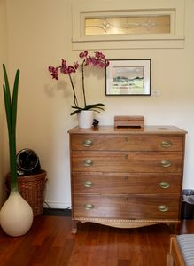 Lots of clothes storage in this beautiful inlaid walnut dresser