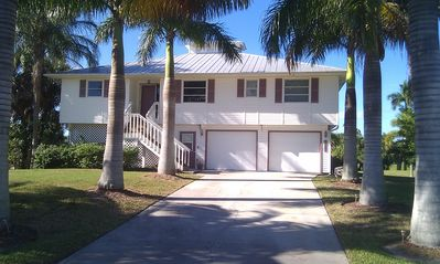 Front Driveway and Royal Palms