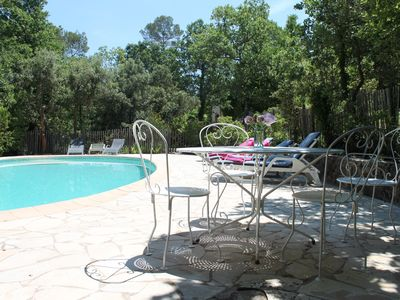 Photo for A five bedroomed family villa with a private pool,terrace areas and large garden