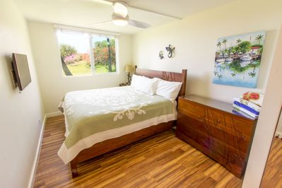 Master Bedroom with king bed & ocean view