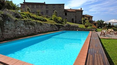 Photo for San Cassiano a Moriano Apartment, Sleeps 8 with Pool