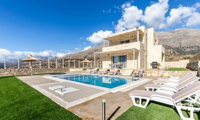 Photo for Breathtaking sea views,8 persons,Private pool, Kids Pool, Near beach and taverns