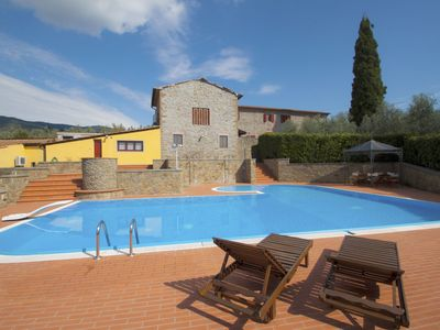 Photo for Stunning private villa for 12 people with WIFI, private pool, A/C, TV and parking