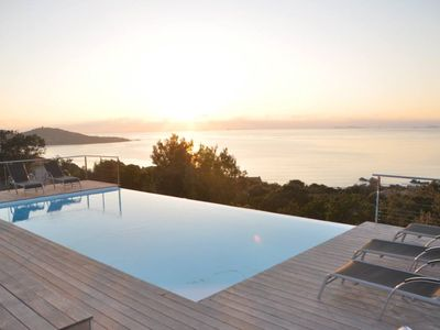 Photo for Architect designed villa - breathtaking view of the Gulf of Ajaccio Sanguinaires &