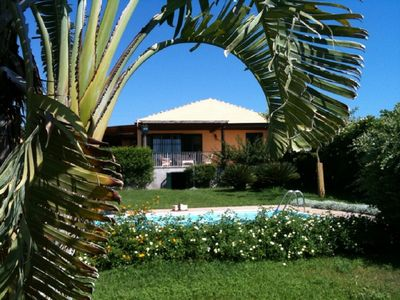 Photo for Villa with private pool overlooking the south-east of Sicily Sea