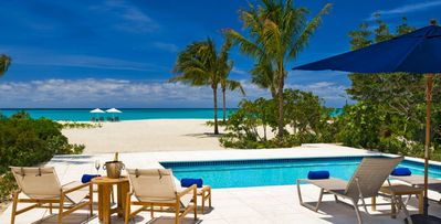 2 bd Grace Bay villa, screened porch, heated pool, steps to beach