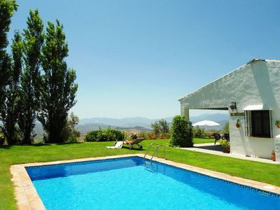 Photo for Nice villa on a hill surrounded by ancient oak woods.