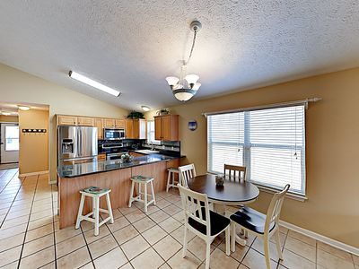Kitchen - The open kitchen and dining space offers a great flow for entertaining.