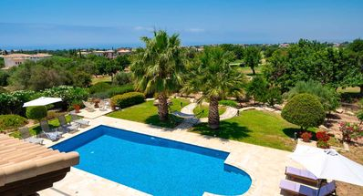 Photo for Beautiful 4 bedroom Villa 'Lofou' (148) with private pool, golf and sea views in peaceful location on Aphrodite Hills Resort