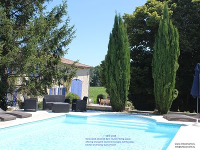 Photo for Beautiful recently renovated farmhouse with heated private pool