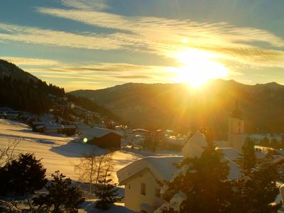 Photo for Centrally located apartment with stunning views of the Alps free Wi-Fi