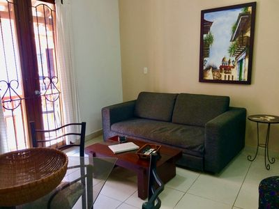 Photo for Calle de la Moneda one bedroom apartment in Old City center! - AC/hot H20/Wifi