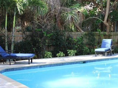 Photo for Private Luxury Pool, Morning Coffee On The Front Porch,  Easy Walk To The Beach