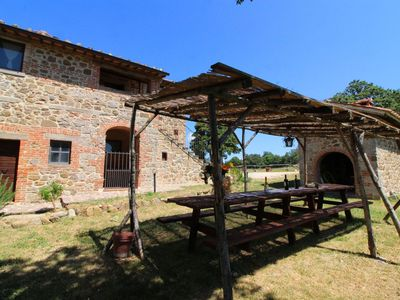 Photo for Old stone farmhouse located between the villages of Chianciano Terme and Sarteano, overlooking the V
