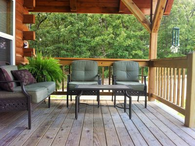 Photo for Ellen's Log Cabin with Hot tub. Located minutes from the Upper Meramec River