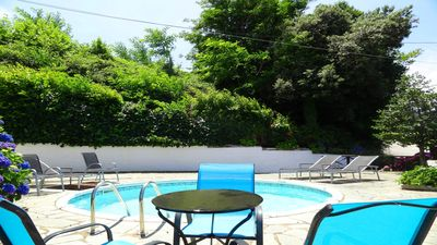 Our little private pool, a splash of cool