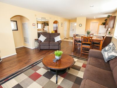 Photo for No Stairs! View!  King Beds, Massage Chair, Heated Pool - 2 Blocks from Strip!