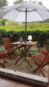Photo for Large furnished studio on the ground floor in a green setting, Mouans Sartoux