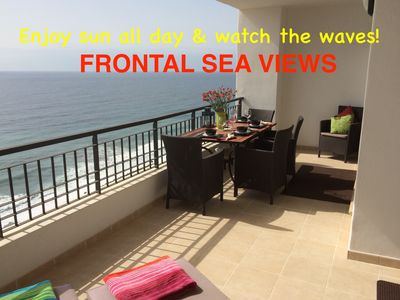 Photo for FIRSTLINE to BEACH, PENTHOUSE FRONTAL SEAVIEWS 180°, Nerja/Torrox, Costa del Sol