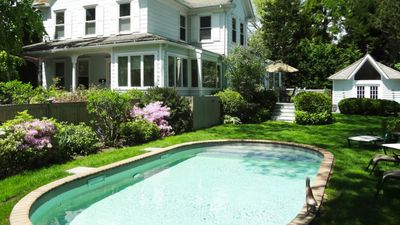 Photo for Charming House 4 Blocks from Main St. East Hampton, Heated Pool, Landscaped Yard and Gardens