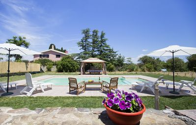 Photo for Wonderful Villa 2 km from the sea. Air conditioning. Wifi. Pool. Barbecue