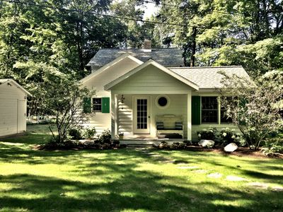 Photo for Year round Crystal Lake cottage, newly remodelled 4br/1ba, w/semi-private beach