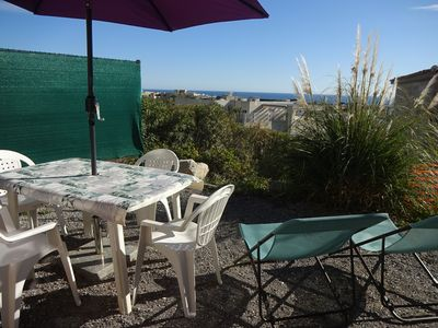 Photo for CLIMATISE, Sea View, Wifi, Parking. BEACHES at 5 min. Near Nice.