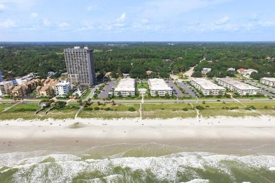 Condo and beach from the air
