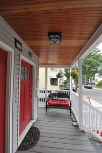 Entranceway, right side on porch