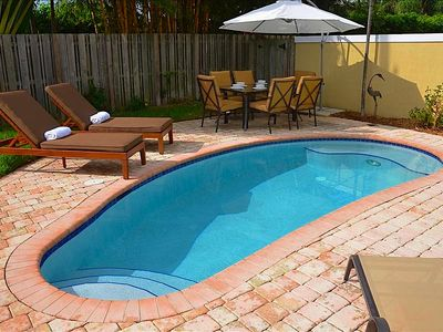 Spacious (Private) Rear Yard w/ Heated Pool, Outdoor Dining & Poolside Lounging!