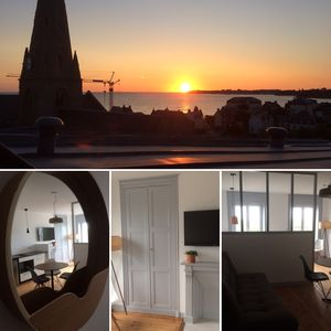 Photo for 1BR Apartment Vacation Rental in Saint-Pair-Sur-Mer, Normandie