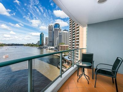 Photo for Located on the Brisbane River! Enjoy Beautiful View from Balcony. Free WiFi!