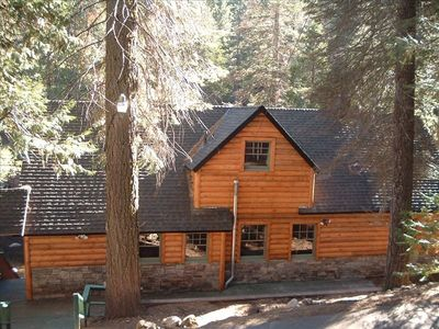 Front View of Cabin - Right on the River! No better location in town!