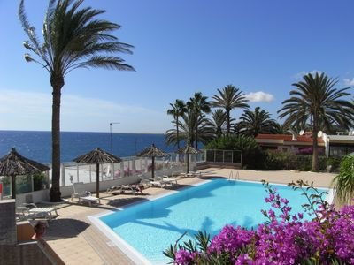 Photo for Beautiful, well-equipped apartment on the sea with a fantastic view Las Flores I