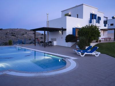 Photo for Villa for six. Large pool, sea views, lawned gardens. Near beach and amenities.