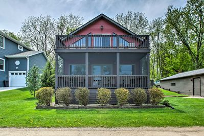 Located in Edgerton, this lakefront home is the perfect escape for 12 guests.
