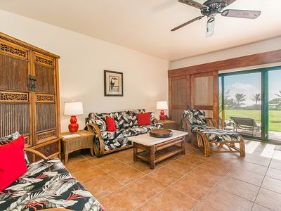 Photo for Kaha Lani Resort #114, Ocean View, Steps to Beach, Beautiful Sunrises, Wifi