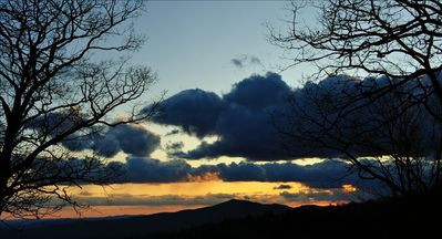View of Rabun from porch at sunset