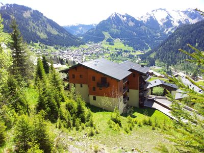 Glorious location in Chatel with views, quiet, easy parking and bus access