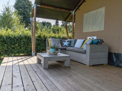 Photo for Camping Les Rives du Lac *** - Tent Safari 3 rooms 5 people